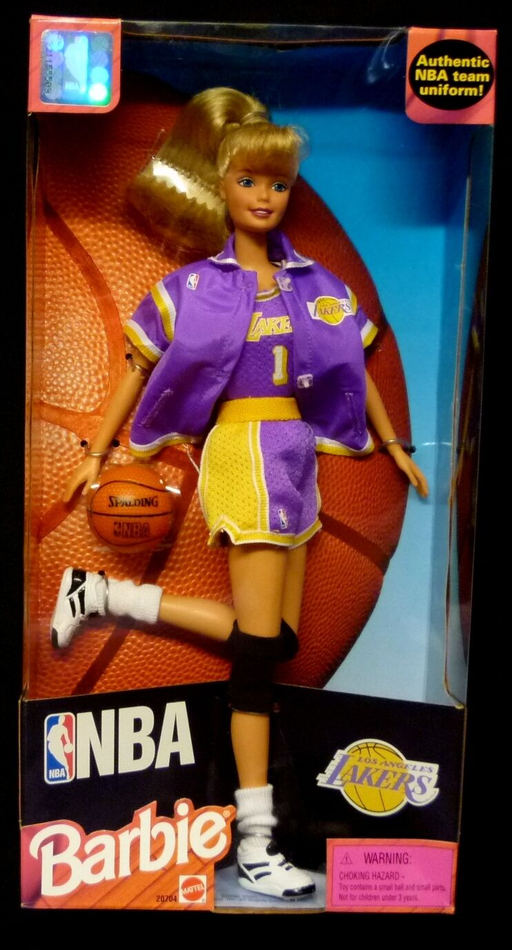 Barbie Nba Los Angeles Lakers 12  Box Set 1998 coleccionista Ed Nuevo Mattel Toys