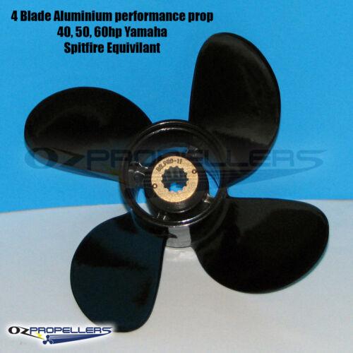 For YAMAHA 10 1//8 x 14 Performance 4 Blade Propeller 40-50-60HP Aluminium Prop