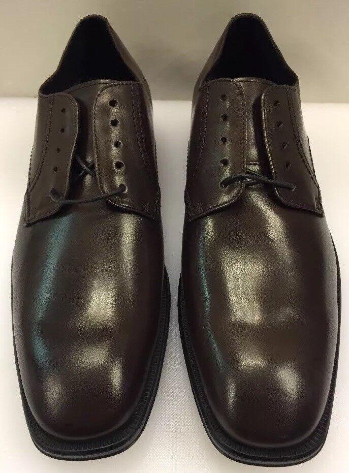 benvenuto per ordinare Johnston & Murphy Uomo 13 M Birchett Plain Toe Toe Toe Oxfords Marrone Leather 59-1916  moda classica