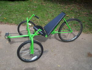 Recumbent Bike Bicycle Plans Build Your Own Tall Trike eBay