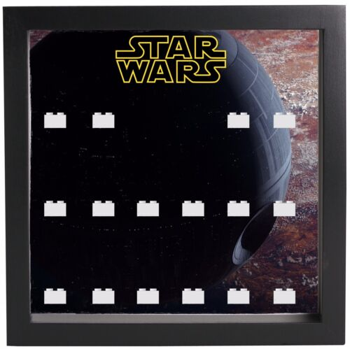 Lego Minifigure Display Case Frame Star Wars Death Star minifigs