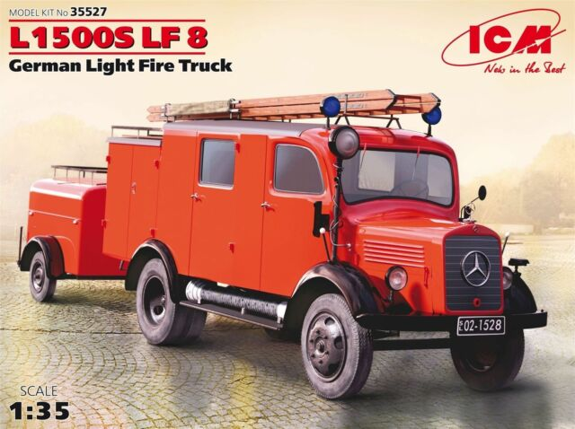 Icm L1500S Lf 8 German Light Fire Truck 1:3 5 Kit Model Kit 35527 Fire Brigade
