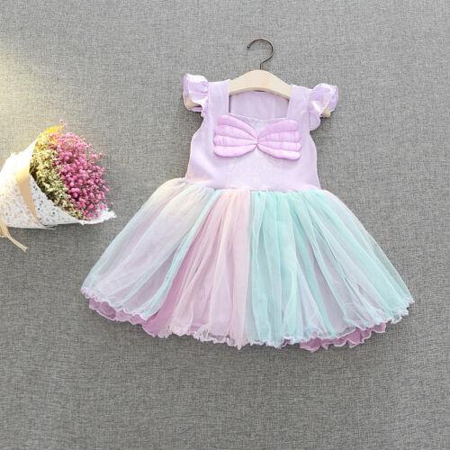 Girls Kids Cute Cartoon Dress Up Party Fancy Costume Cosplay Tulle Tutu Skirt