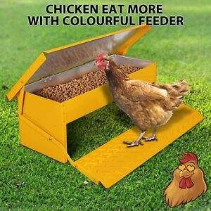 Chicken Feeder Automatic Treadle Self Opening Duck Food 5kg Yellow