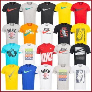 Nike-T-Shirt-Herren-Shirt-Sport-Fitness-Freizeit-Shirts-Swoosh-Graphic-Logo-NEU