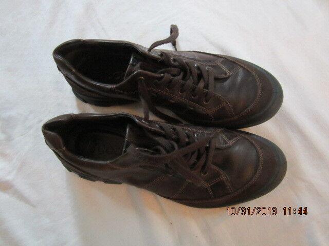 Preowned Men's Size 12 (European 45) ECCO Urbanity Tie Oxford shoes - Dark Brown