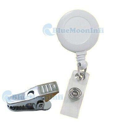 Reels Retractable Badge Holder Alligator Clip ID YOYO White Black 10 50 100 pcs