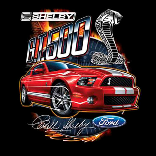 Licensed Cobra Gt 500 Ford Mustang Muscle Shelby T-Shirt 0196