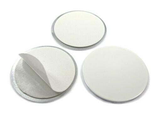 DC01 Gegenstück für Magnete Metallscheiben rund selbstklebend WEIß Ø 30 x 2mm