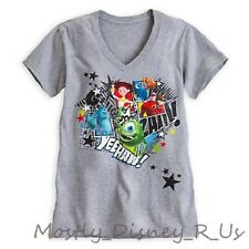 NEW Disney Store Pixar Toy Story Monsters Nemo Incredibles T-Shirt Tee Adult Top