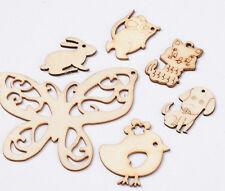 1 Set Of 6 Animal Wood Moccasin Cute Pendants  DIY Jewelry Craft Making