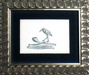 Max ERNST Lithograph ORIGINAL Limited Ed. 1970 on Arches w/Archival Frame
