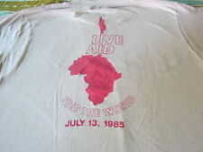 RARE VINTAGE LIVE AID TEE SHIRT 1985 QUEEN SCREEN STARS SHIRT LARGE