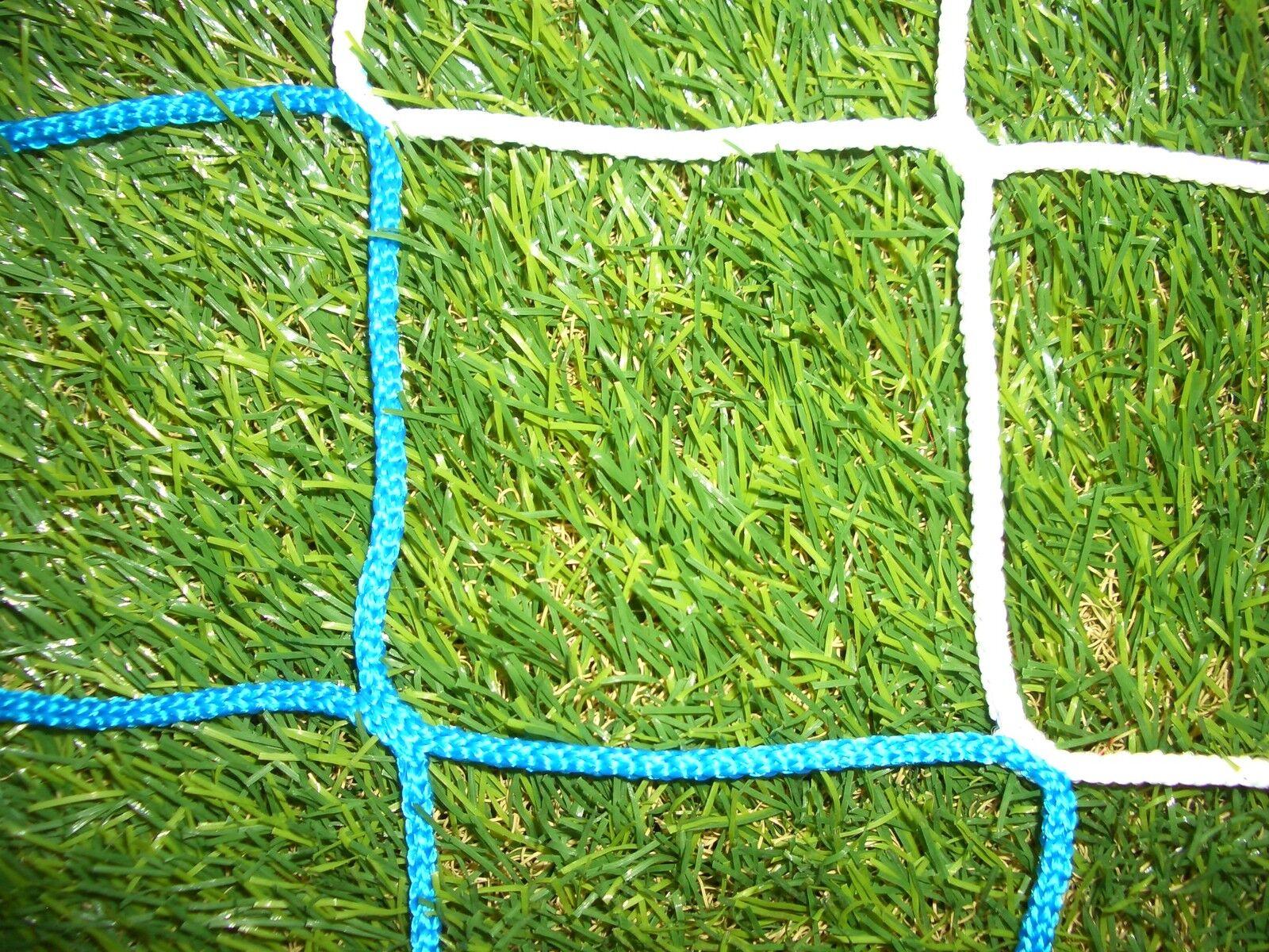 Fußballnetz, Fußballtornetz, Tornetz Jugendtor 5x2m, 100/100, PP 4mm, blau/weiß