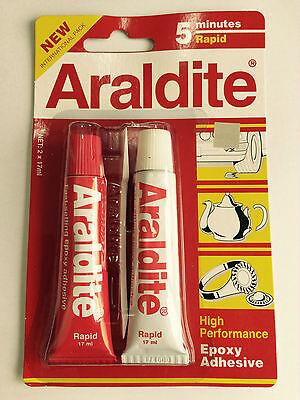 Honest 10 X Araldite 5 Minute Rapid Ab Epoxy Adhesive High Performance Uaf5 Glues, Epoxies & Cements