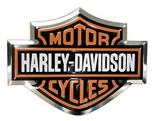 harley davidson raised 3d emblem fuel tank gas gear sticker HD decal aluminum