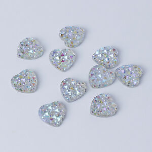 10-12mm-Flat-Back-Iridescent-AB-Crystal-Heart-Rhinestone-Embellishment-Face-Gems