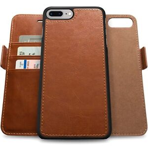 Genuine-Leather-Magnetic-Flip-Wallet-Case-Cover-For-Apple-iPhone-X-8-7-6-6S-Plus
