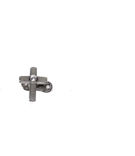 Croix Circonia Acier 316l 5mm Bijoux de Peau Inkgrafix Tour Microdermal