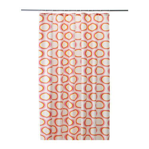 Shower Curtain White With Pink Flamingo Print From IKEA Springkorn ...