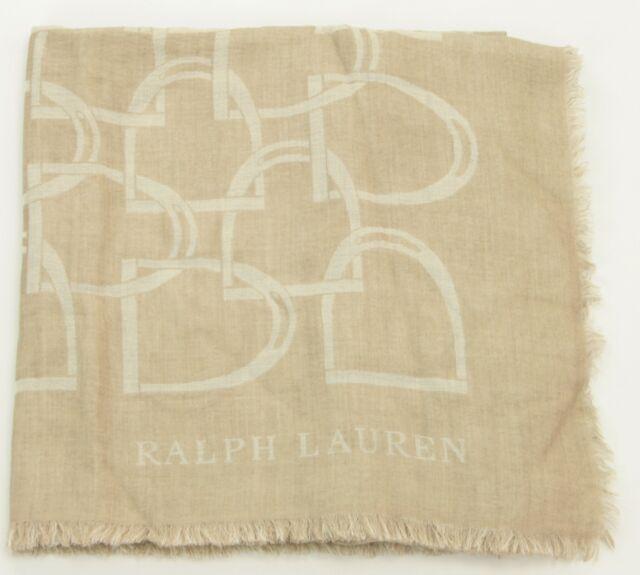 9bab8269eb6 Ralph Lauren Femmes Beige Cachemire  laine Châle Écharpe