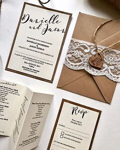 Shabby Chic Wedding Invitations Maelove Store Maelove Store