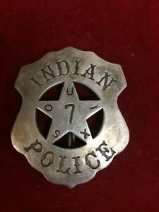 /& Ohio Railroad Police Badge Mobile Reproduced Unusual OLD WEST /</> Texas Gulf