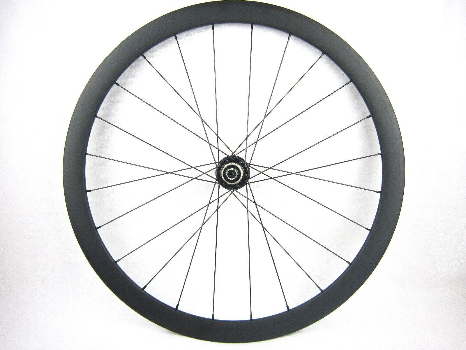 38mm clincher carbon fiber bicycle wheel disk brake 700C,rear only    25mm width