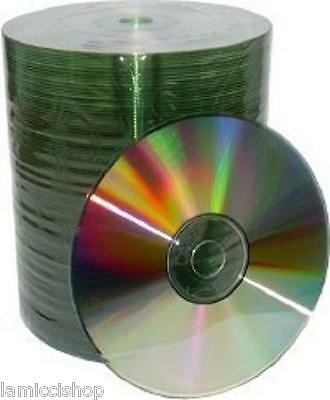 200pcs CD-R 52x Silver Shiny Top Blank Media Free Priority Same Day Shipping