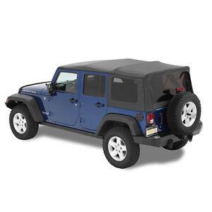 2007 2016 jeep wrangler unlimited bestop supertop nx soft top w hardware black ebay. Black Bedroom Furniture Sets. Home Design Ideas