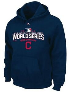 the latest 1940c 4414a Details about Cleveland Indians MLB Majestic Mens 2016 World Series Hoodie  Navy Big Sizes