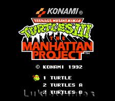 Teenage Mutant Ninja Turtles III 3 - NES Nintendo TMNT
