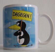 ULI STEIN Tasse Henkeltasse Henkelbecher - Pinguin DAGEGEN - NEU