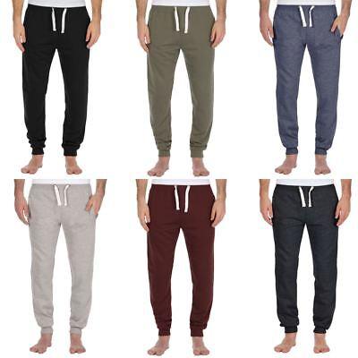 Gelernt Mens Skinny Slim Fit Joggers Jogging Bottom Fleece Gym Pants Cuffed Hem Warm