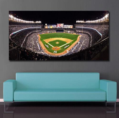 Classic Shot of Yankee Stadium Baseball Yankee Stadium Aeriel View at night
