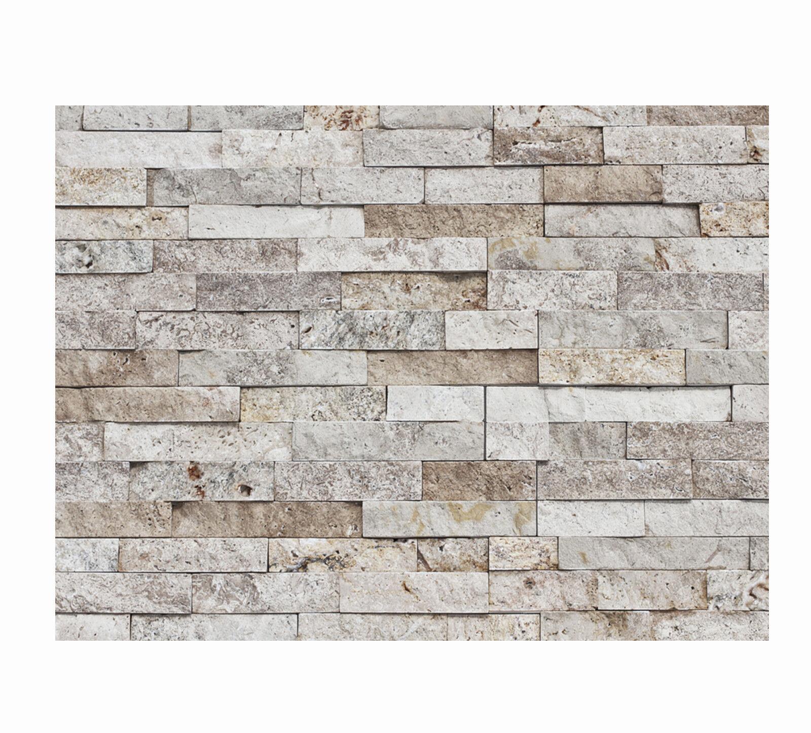 1 qm - W-013 - Naturstein-Wand - Fliesen Lager Stein-mosaik Herne - Wanddesign -