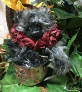HTF Artist Mohair Teddy Bears MARCUS Janice Woodard BOOH BEARS Cup Vintage OOAK