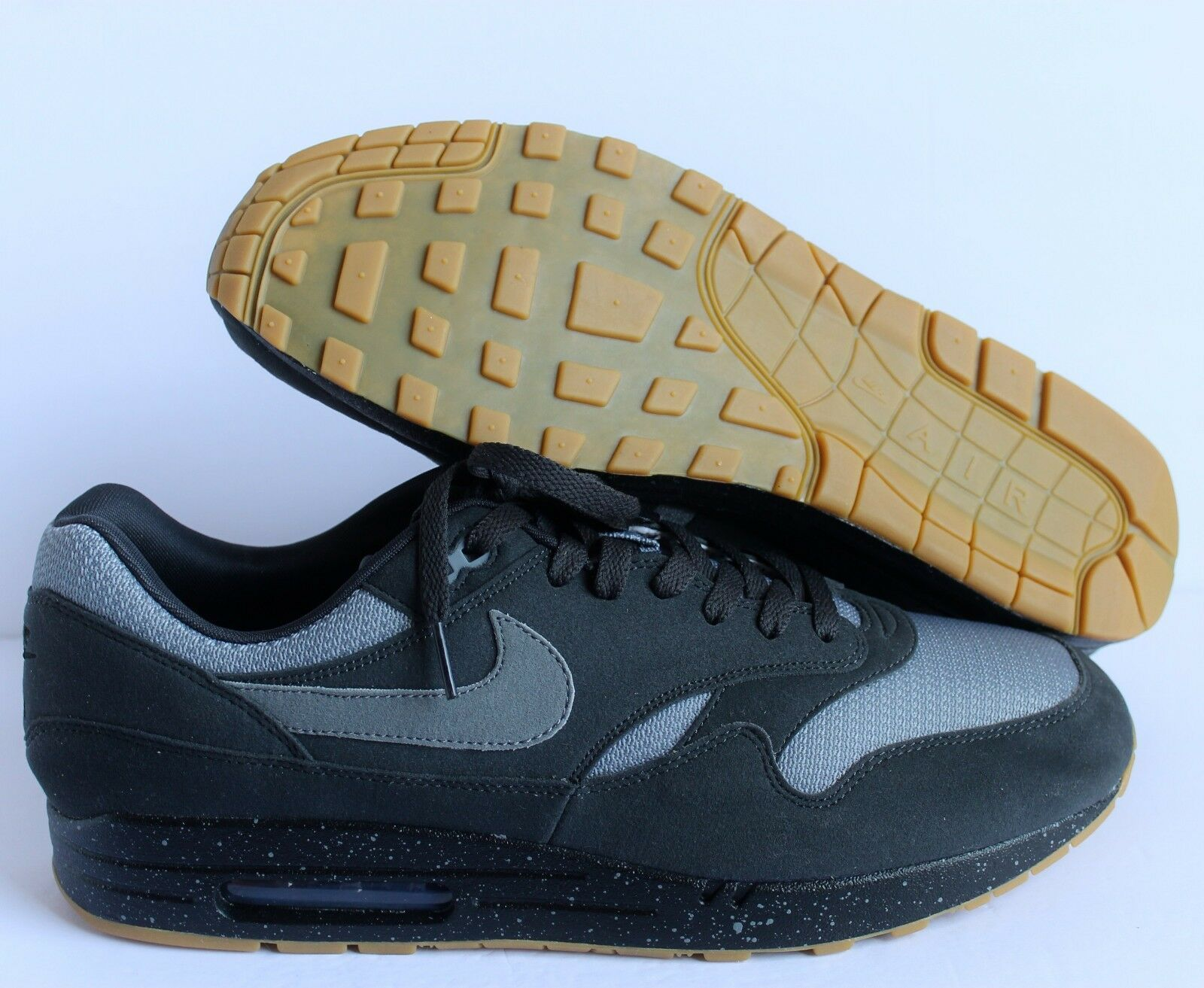 NIKE AIR MAX 1 ID BLACK-ANTHRACITE-GREY SZ 14