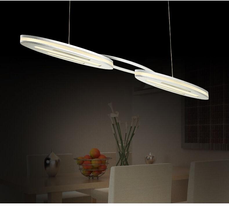 LED Pendelleuchte NY8016-2P chrom warmweiß 3000 K Luxus Design 2x8W 80x8x110cm