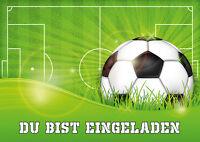 Einladungen Zur Fussball-party - Einladungskarten-set Zum Kindergeburtstag
