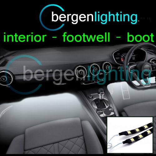 2X 300MM WHITE INTERIOR UNDER DASH//SEAT 12V SMD5050 DRL MOOD LIGHTING STRIPS
