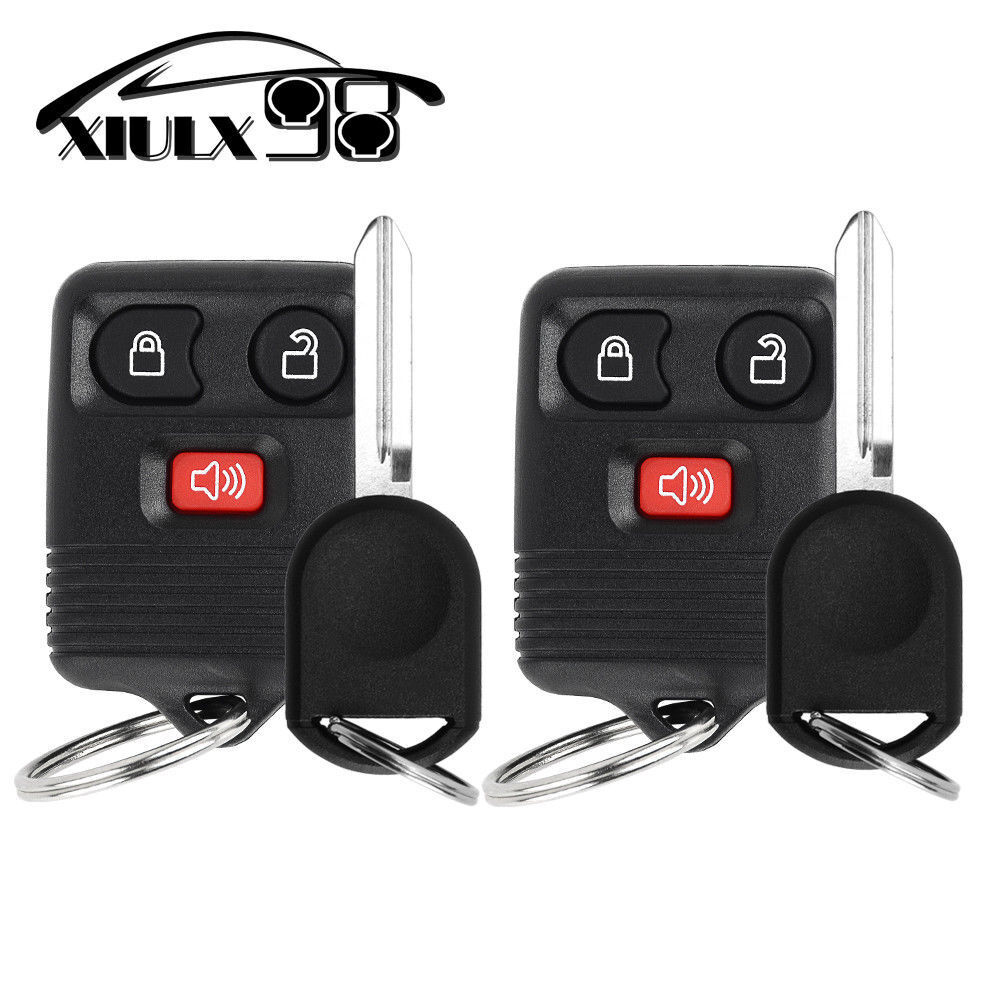 2 New Keyless Entry Remote key Fob for CWTWB1U345 + 40 Bit Ignition Chipped Key