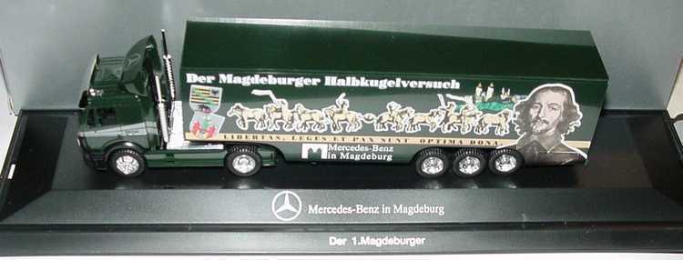 1 87 Mercedes-Benz sk semi-remorque MB dans Magdeburg-L' hémisphère tentative-HERPA
