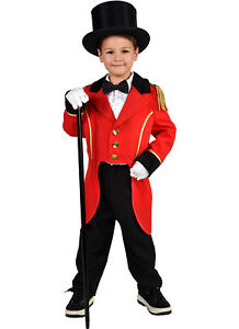 Kids Red Tailcoat Ringmaster Greatest Showman Costume Hat Ebay