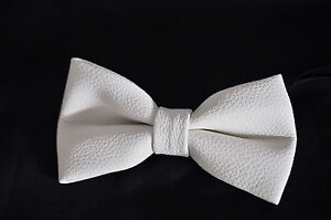 Mens PVC Faux Leather SOLID PURE BLACK  Shining Bow Tie Bowties Wedding Party