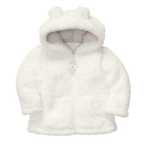 Newborn Baby Boy Girl Hooded Fur Coat Winter Warm Thick Cloak Jacket Clothes New