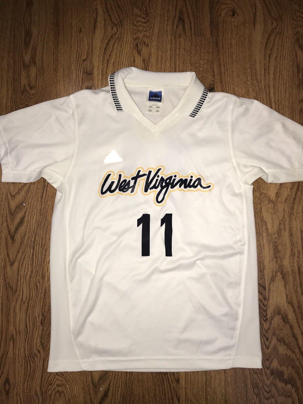 Adidas West Virginia Mountaineers # 11 Womens Soccer Worn Jersey * S *