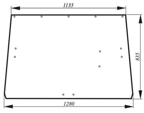 2140 2250, 2040S Glas Scheibe Heckscheibe John Deere L36606 Serie:1640 2040