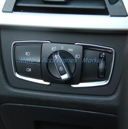 New Chrome Light Switch Console Trim for BMW X5 F15 F20 F21 F22 F30 F31 F32 F34