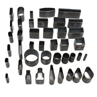 39 Shape Style Leather Craft Set  One Hole Hollow Punch Cutter Tool Handmade diy